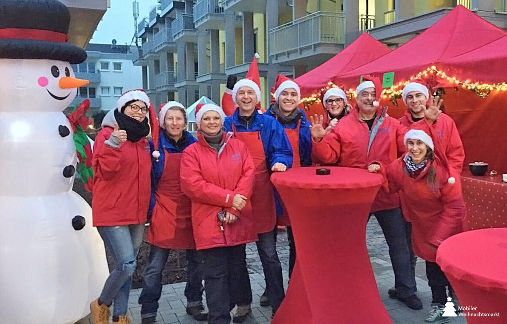 Mobiler Weihnachtsmarkt Team